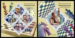 NIGER 2021 - Mikhail Botvinnik, Chess. M/S + S/S Official Issue [NIG210238] - Chess
