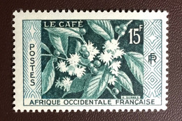 French West Africa AOF 1956 Coffee MNH - Unclassified