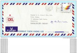 MALAYSIA MALAISIE Brief Cover Lettre FIRMA 170 Sportspiele Kuala Lumpur 1977 - SST Slogan Cachet (23355) - Malaysia (1964-...)