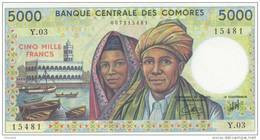 COMOROS P. 12b 5000 F 2005 UNC - Comoros
