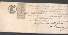 Villemur (31 Haute Garonne) Traite De 1918 Avec Timbre  Fiscal  5f50  (PPP30998) - Revenue Stamps