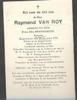 18 08/ C//   °   WIEZE 1885 + MUNCHEN 1951 RAYMOND VAN ROY BURGEMEESTER BEHEERDER BROUWERIJ VAN ROY ENZ....!! - Religion & Esotericism