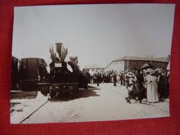 Photo - Train - Locomotive - Gare - Petit Format - Treni