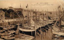 -dpts Div-ref-AW747- Morbihan - Groix - Ile De Groix - Quai En Bordure Du Bassin De Port Tudy - Bateaux - Etat - - Groix