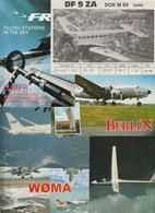 Lot 20 QSL-Karten Aus Aller Welt, Motiv Flugzeug - Luftfahrt - Radio Amatoriale