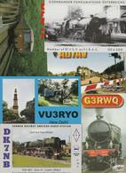 Lot 46 QSL-Karten Aus Aller Welt, Motiv Eisenbahn - Radio Amatoriale