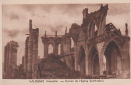 N°86171 -cpa Valognes -ruines De L'église Saint Malo- - Valognes