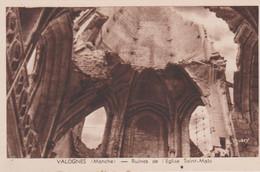 N°86172 -cpa Valognes -ruines De L'église Saint Malo- - Valognes