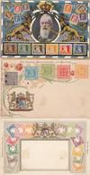 AD Bayern 3 Postkarten Mit Abbildung Briefmarken 1900 - Bayern (Baviera)