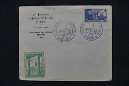 FRANCE - Enveloppe, Timbre, Vignette Et Oblitération Des 500 Ans De L 'Hôtel Dieu De Beaune En 1943  - L 105071 - 1921-1960: Moderne