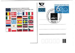 Czech Republic 2003 European Ideas Entrance Referendum Flags Postcard #30915 - Lettres & Documents