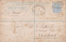 Great-Britain - Y&T 57 On Registered Letter From Bradford To Hamburg - Oct. 1880 - Covers & Documents