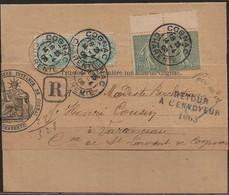 Cognac : Retour à L'envoyeur 1065 Noir Sur Avis Du Tribunal, 1906. - 1877-1920: Periodo Semi Moderno