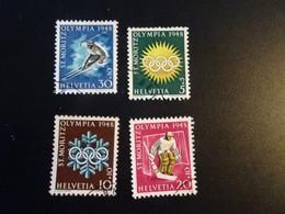 P132 - Set Used Suisse - Switserland 1948 - Olympics ST. Moritz - Inverno1948: St-Moritz
