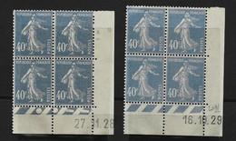 Lot   2  CD   Du 40 C Semeuse  1828 / 1929 - ....-1929