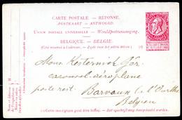 Belgique Carte Postale #34 RÈPONSE 1904 - Postcards [1871-09]