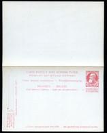 Belgique Carte Postale Avec Réponse #36 Neuf 1906 - Postcards [1871-09]