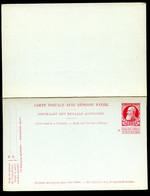 Belgique Carte Postale Avec Réponse #40 Neuf 1908 - Postcards [1871-09]