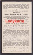 STEENDORP - MARIA LEONIA VAN GASSE -- ECHTG LUDOVICUS VERSTRAETEN - 1893/1933 - Andachtsbilder
