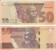 Zimbabwe - 50 Dollars 2020 ( 2021 ) UNC Lemberg-Zp - Zimbabwe