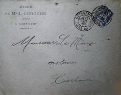 H 1 Lettre/document / Carte Postale /entier / 1898 Guingamp - 1877-1920: Période Semi Moderne