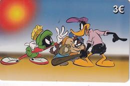 GREECE - Looney Tunes/Marvin The Martian-Taz-Daffy Duck, Amimex Prepaid Card 3 Euro, Tirage 2000, Used - Grecia