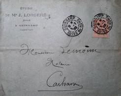 H 1 Lettre/document / Carte Postale /entier / 1902 Guingamp - 1877-1920: Période Semi Moderne