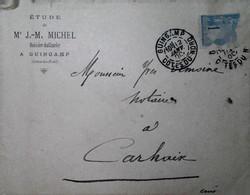H 1 Lettre/document / Carte Postale /entier / 1900 Guingamp - 1877-1920: Période Semi Moderne