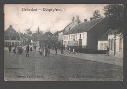 Booischot / Boisschot - Dorpsplein - Uitg. Fr. De Rijck / L. Van Den Broeck - Zeer Geanimeerd - Heist-op-den-Berg