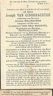 18 08/ E//   ° MERCHTEM 1889 + 1959 JOSEPH VAN GINDERACHTER      BURGEMEESTER/ BEHEERDER BROUWERIJ MARTINAS.. - Religion & Esotericism