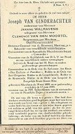 18 08/ E//   ° MERCHTEM 1889 + 1959 JOSEPH VAN GINDERACHTER      BURGEMEESTER/ BEHEERDER BROUWERIJ MARTINAS.. - Religion & Esotérisme
