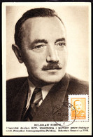 POLAND (1949) President Boleslaw Bierut. Maximum Card. Scott No 436, Yvert No 529. - Cartoline Maximum