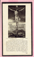 Bidprentje-Z.E.Heer EDUARD DE MEULDER- Reeth 1878 -Bouwel 1932 -Leeraar St Aloysiuscollege Geel - Onderpastoor Kasterlee - Devotion Images