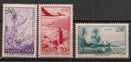 Maroc - 1955 - Poste Aérienne PA N°Yv. 100 à 102 - Complet 3 Valeurs - Neuf Luxe ** / MNH / Postfrisch - Luchtpost
