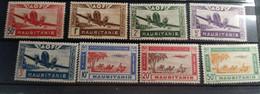 """Mauritanie Aerien YT 10 à 17 (PA) """" Série Complète """" 1942 Neuf* - Unused Stamps"""