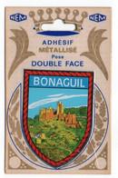 CP Adhesif 255, Blason Adhésif Métallisé Double Face NEM, 47 Saint-Front-sur-Lémance, Bonaguil - Altri Comuni