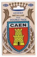 CP Adhesif 254, Blason Adhésif Métallisé Double Face NEM, 14 Caen - Caen