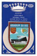 CP Adhesif 248, Blason Adhésif Double Face NEM, 50 Granville Aquarium Du Roc - Granville