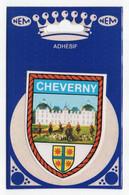 CP Adhesif 247, Blason Adhésif Double Face NEM, 41 Cheverny - Cheverny