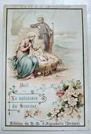 Image Pieuse Religieuse - Noël La Naissance Du Sauveur - Souvenir De La TRAPPE D' AIGUEBELLE - Etat Correct - Devotion Images