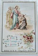 Image Pieuse Religieuse - Jésus Guérit L'aveugle De Jéricho - Souvenir De La TRAPPE D' AIGUEBELLE - BE - Devotion Images