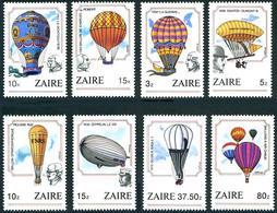 Zaire 1984 Ballons Balloons Montgolfiere Zeppelin, Piccard, Santos-Dumont (YT 1175, Mi 857, StG 1201, Scott 1154) - Other (Air)