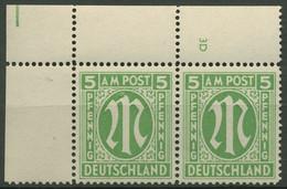 Bizone 1945 Englischer Druck 12 A Y Mit Plattennummer 3D Postfrisch - Zona Anglo-Américan
