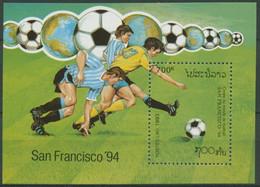 Laos 1993 Fußball-WM USA Block 147 Postfrisch (C30282) - Laos