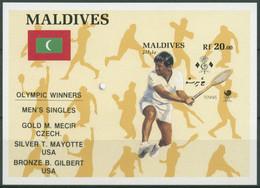 Malediven 1989 Olympia Seoul Tennis Medaillengewinner Bl.148 Postfrisch (C6973) - Malediven (1965-...)
