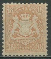 Bayern 1870 Staatswappen 18 Kreuzer 27 Y A Mit Falz - Bavaria
