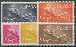Spanien 1955 Flugpost Flugzeug Karavelle 1057/61 Postfrisch - 1951-60 Ungebraucht