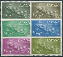 Spanien 1956 Flugpost Flugzeug Karavelle 1073/78 Postfrisch - 1951-60 Ungebraucht