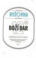 Czech Republic Minibrewery RYZOVNA Near Small City Bozi Dar - Premium Blond Lager, Self-adhesive Label 0,7 L - Birra