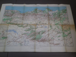 CONSTANTINE - GRANDE CARTE TOURISTIQUE  - AFRIQUE AU 1/ 500.000 - EDITION JUIN 1955 - MISE A JOUR 1948 - 685 X 1050 Mm - Callejero